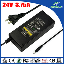 90W power supply 24V 3.75A AC DC power supply with factory price
