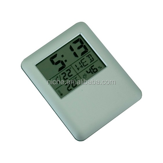 Weather station multi-function LCD clock