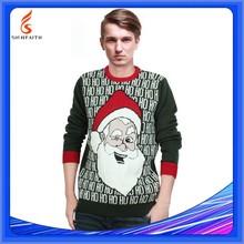 Servicio del OEM jersey adultos tela suéter de la navidad para el hombre, suéter modelo para hombre