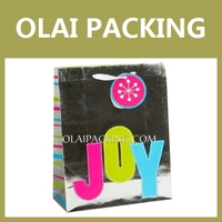 Supply gift bag ,packaging bag smart holographic paper party bag