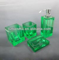 Acrylic luxury bathroom accessories set for hotel,home,garden factory