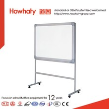 Howhaty double side moveable standing magnetic whiteboard