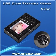 Motion Detection Digital Door Peephole Viewer With Video Camera & Clear Night Vision
