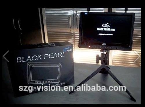 Black pearl g631 flysight rc801 32ch 5.8 ghz récepteur diversité 7 pouces. dji phantom quadcopter moniteur pour fpv