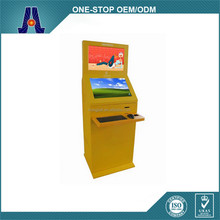 Dual touchscreen cash payment kiosk with coin acceptor and key board