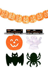 Pumpkins paper garland halloween party decoration Halloween Paper Chain Garland Decorations pumpkin & bat / ghost & spider