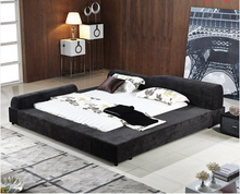 2015 ZD furniture bedroom hot sale storage fabric bed B23