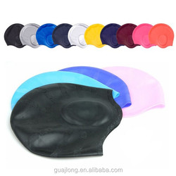 Colorful Silicone ear protection swimming cap