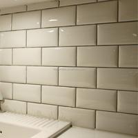 75x152mm kitchen wall decorative white ceramic tiles