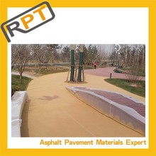 The more information about finished red asphalt pavement