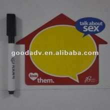 2012 Fashion gifts magnetic fridge writing cardboard with pen