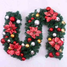 Beautiful 9 feet 270cm christmas garland with decorations