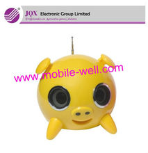 Mini cute pig speaker with Antenna FM function