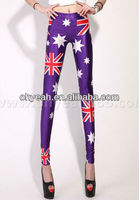 Wholesale fashion british flag union jack stretch pants tights UK flag leggings
