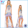 Yihao 2016 Ladies New Designs Girls Summer Western Party Wear Fashion Ladies Dress Women Short Front Long Back Patterns Dresses