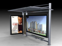 The direct manufacturer supply bus shelter design in advertising light box