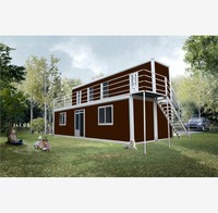 strong sandwich flat for new design steel section shipping container manufactured log homes