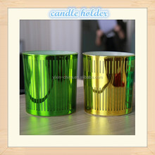 Dia45*65mm Halloween glass sprayed electroplating candle jar
