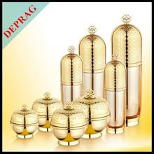 2015 new luxury 24K gold acrylic wholesale body scrub containers/50ml body cream jars/30g beauty cream jars