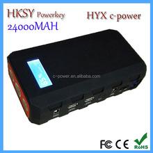 HYX professional 24000mah portable emergency jump starter car survival kit