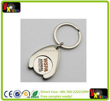 customized zinc alloy keychain metal keychains heart shaped with laser logo