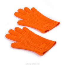 Silicone Heat Resistant Gloves / Silicone Oven Mitts for Oven Cooking / Silicone BBQ Baking Gloves