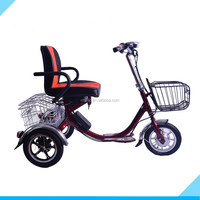 Chinese manufacturer selling 12 inch 48V 350W three wheel electric tricycle for old people