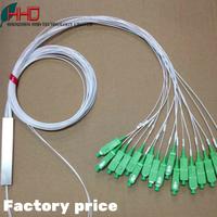 Hot Fiber Optical FTTH PLC Splitter ,0.9mm mini plc splitter 1x4 1x8 1x16 1x32 1x64 with sc/apc connector