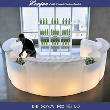 glowing high quality plastic bar table for sale& lighting bar table