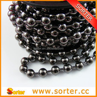 SORTER elegant gunmetal color roll metal bar ball chain curtain