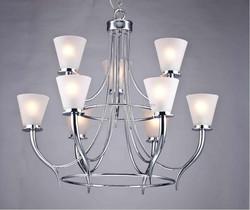 Home Depot supplier 9 lights high quality chrome LED pendant&chandlier lamp