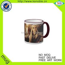 2015 Brand New Bone China Writing glazing coffee ceramic Mug
