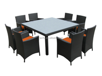 Outdoor furniture American style rattan chair and table dining set 8 seater