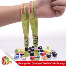 Handicraft manufacturer Eco-friendly polyester event promotional custom wristbands