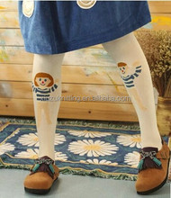 one man and one lady funny design kids girl cartoon tights
