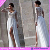 DL-238 chiffon wedding dress long sleeve sexy leg open wedding dress