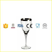 hot lead-free Stemware Goble/ hot colored Platinum rim Wine Glass