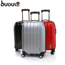 ```BUBULE```2015 hot sale~100% Pure PC trolley case /pilot trolley case/hard case trolley bag