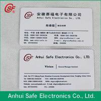 CR80 Standard Size clear inkjet pvc card print directly china manufacturer