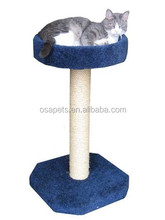 simple cat tree/ cat scratching post with top bed