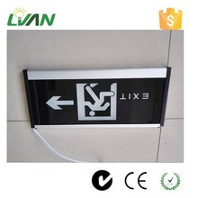 China supplier wall mounted Security lamp exit lights 220v led emergency evacuation light