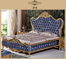 DXY french rococo antique bedroom -full size luxury classical bedroom furniture sets BR-003#