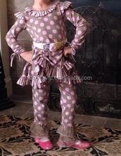 kids long sleeve cotton winter wear Wholesale price fancy organic boutique cotton clothing
