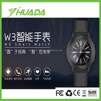 Bluetooth4.0 Smart Watch W3 Smart Bracelet Wearable Life Waterproof Pedometer Smart Watch For IOS Android Fitness Tracker