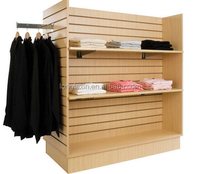 Garment display rack / MDF four side retail clothes display stand 49 1/2 in. W x 24 in. D x 54 in. H