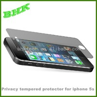 scratch proof privacy tempered protector for iphone 5 5s 5c,9H privacy screen guard for iphone5s