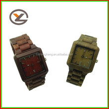 hot sales brand watches wooden watch,mixed color square men's watch
