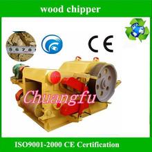 Electric drum wood chipper machine