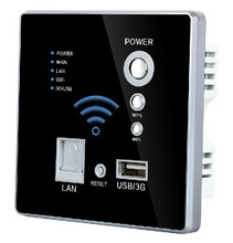 Hot sales Smart Wifi Socket with 3G USB LAN/ WAN port, USB Wall Charger Wholesale Black color,CE OEM