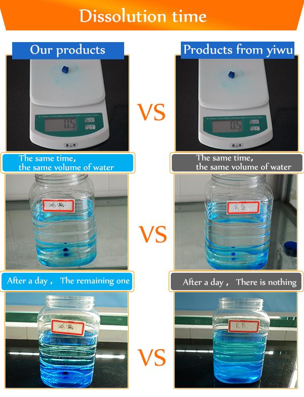 toilet blue block detergent blue bubble in bulk pack